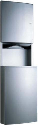 Dispensador de Toallas de Papel/ Receptáculo de Desperdicios Empotrado - B-43944