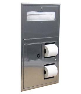 Combo basurero, dispensador de papel y protectores