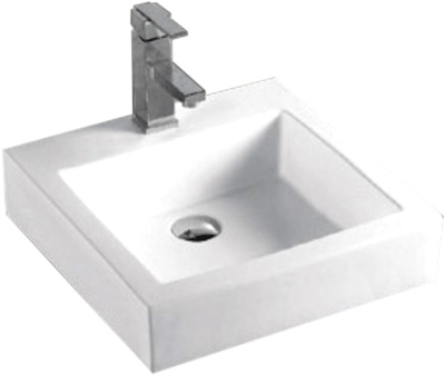 Lavabo Cuadrado de Resina - P-7583