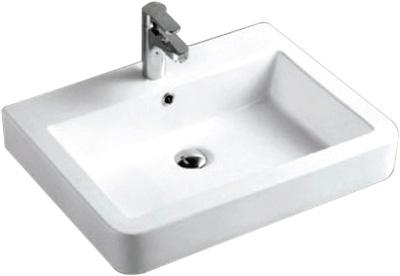 Lavabo Rectangular de Cerámica - P-7605-2