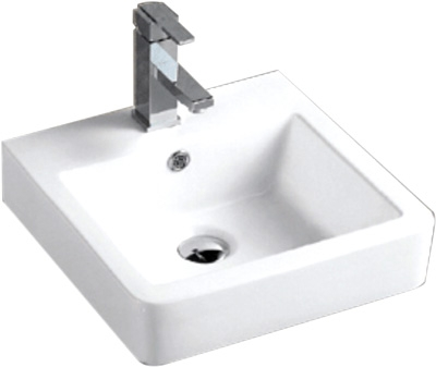 Lavabo Cuadrado de Cerámica - P-7605-3
