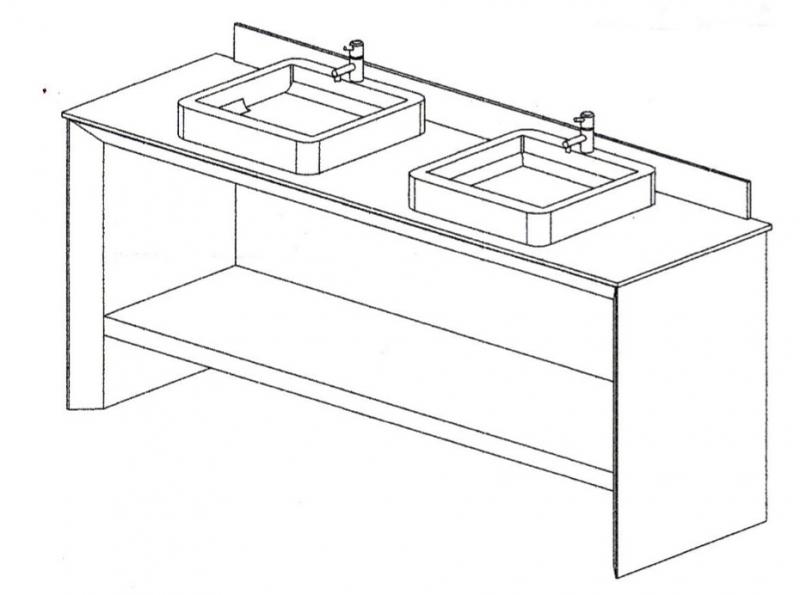 Mueble con Dos Lavabos - P-92100