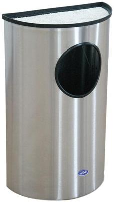 Cenicero Medio Punto de Acero Pulido - 304011