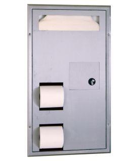 Combo basurero, dispensador de papel y protectores