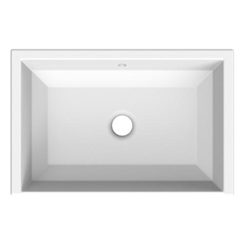 Lavabo rectangular bajo cubierta