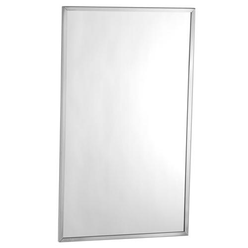 Espejo antirrobo con marco de acero
