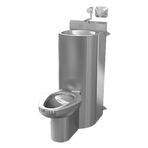 Combo de inodoro y lavabo de acero