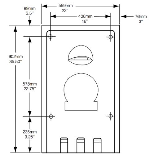 Cambiador de Pañal Vertical