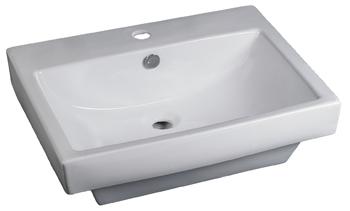 Lavabo Rectangular de Cerámica - P-7390